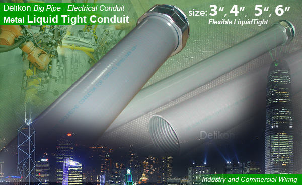 Delikon metal liquid tight conduit for rail way wiring