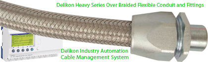 Delikon EMI Shielding Heavy Series Over Braided Flexible Conduit and Fittings For Industry Automation Cable Management