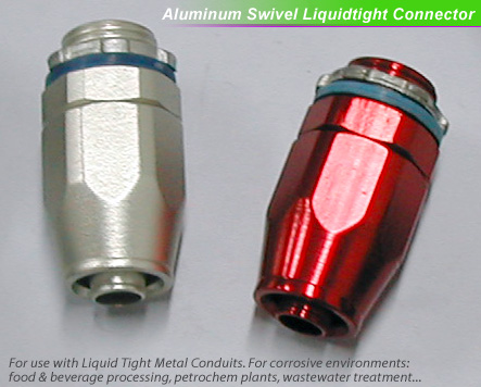 Aluminum Swivel Liquidtight Connector,liquitight conduit fittings for corrosive environments