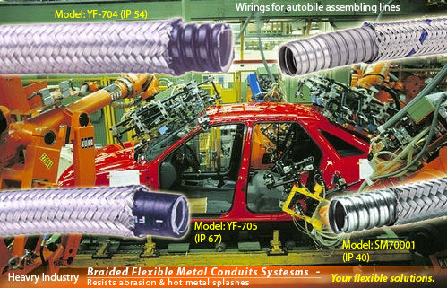 Electrical Over Braided Flexible Steel Conduits for heavy industry wirings