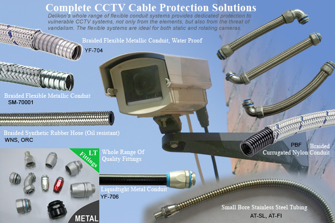 Delikon Flexible Conduit System For Complete CCTV Cabling Protection Solutions