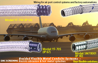 Flexible EMC screening metal conduit,steel wire over braided