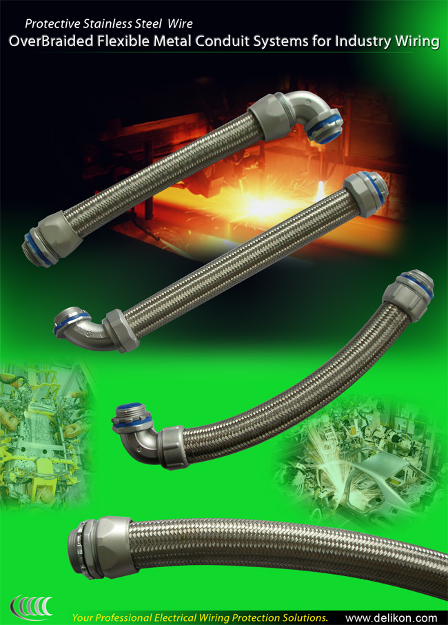 Braided Flexible Electrical steel Conduit Systems For Industry Control Wirings