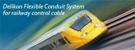 Delikon Flexible Conduit System for railway control cable protection